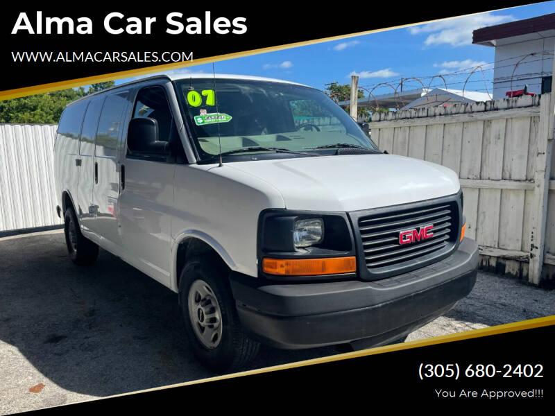 2007 GMC Savana Cargo for sale at Alma Car Sales in Miami FL