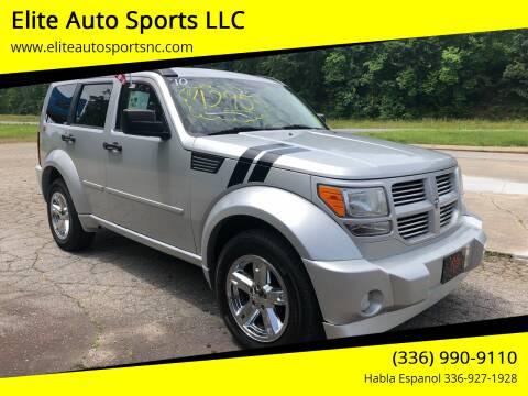 2010 Dodge Nitro for sale at Elite Auto Sports LLC in Wilkesboro NC
