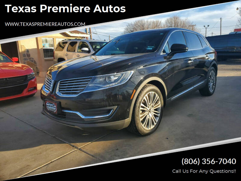 2016 Lincoln MKX for sale at Texas Premiere Autos in Amarillo TX
