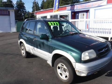 2000 Suzuki Grand Vitara for sale at 777 Auto Sales and Service in Tacoma WA
