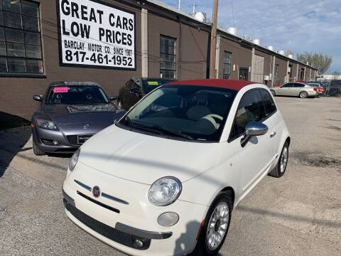 2013 FIAT 500c for sale at BARCLAY MOTOR COMPANY in Arlington TX