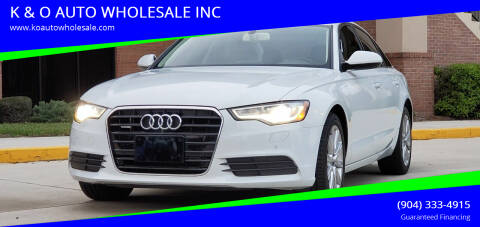 2013 Audi A6 for sale at K & O AUTO WHOLESALE INC in Jacksonville FL