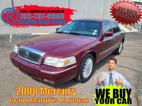2008 Mercury Grand Marquis for sale at Reliable Auto Sales in Las Vegas NV