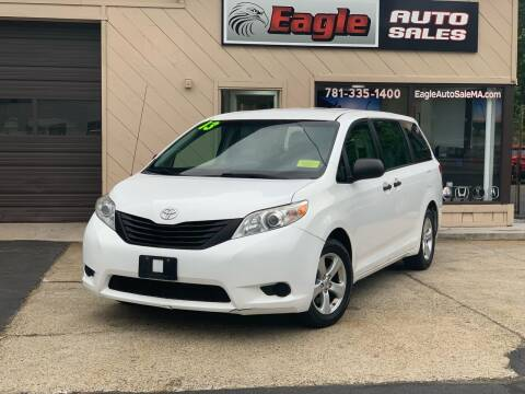 2013 Toyota Sienna for sale at Eagle Auto Sales LLC in Holbrook MA