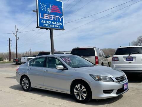 2015 Honda Accord for sale at Liberty Auto Sales in Merrill IA