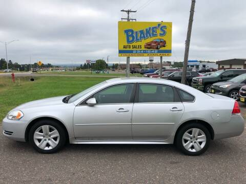 2011 Chevrolet Impala for sale at Blake's Auto Sales in Rice Lake WI