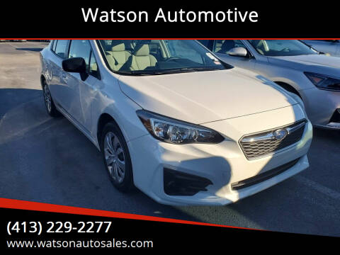2017 Subaru Impreza for sale at Watson Automotive in Sheffield MA