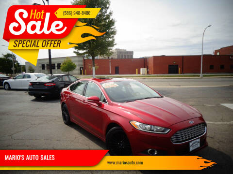 2013 Ford Fusion for sale at MARIO'S AUTO SALES in Mount Clemens MI