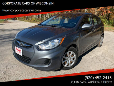 2013 Hyundai Accent for sale at CORPORATE CARS OF WISCONSIN - DAVES AUTO SALES OF SHEBOYGAN in Sheboygan WI
