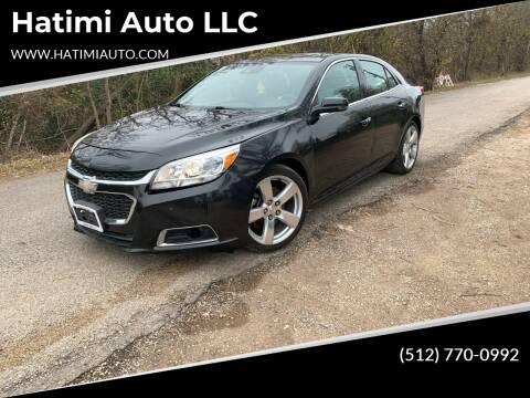 2015 Chevrolet Malibu for sale at Hatimi Auto LLC in Buda TX