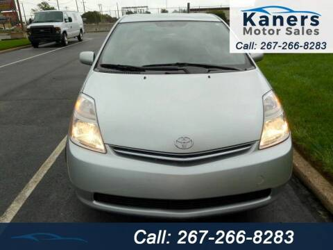 2007 Toyota Prius for sale at Kaners Motor Sales in Huntingdon Valley PA