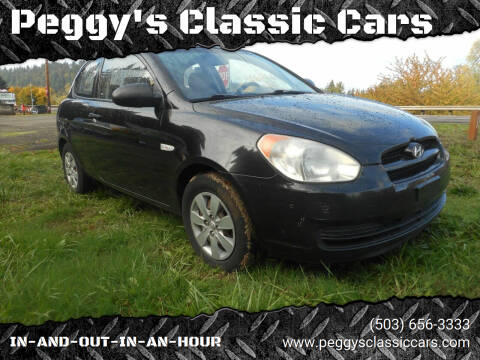 2008 Hyundai Accent for sale at Peggy's Classic Cars in Oregon City OR