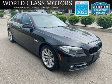 2015 BMW 5 Series for sale at World Class Motors LLC in Noblesville IN
