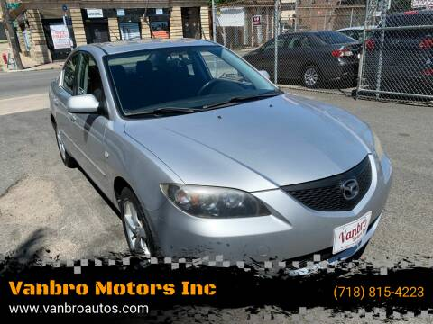 2006 Mazda MAZDA3 for sale at Vanbro Motors Inc in Staten Island NY