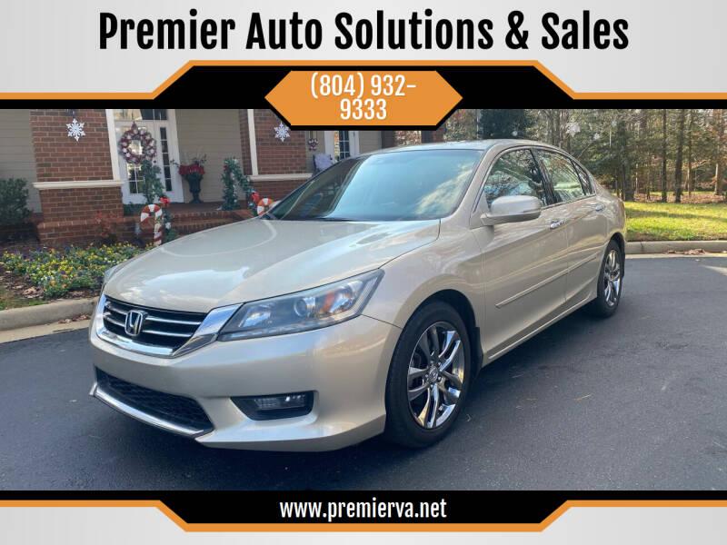2014 Honda Accord for sale at Premier Auto Solutions & Sales in Quinton VA