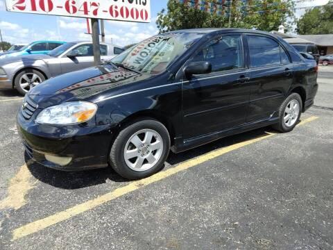 2004 Toyota Corolla for sale at John 3:16 Motors in San Antonio TX