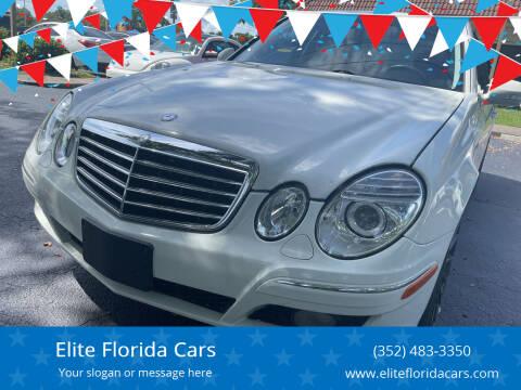 2008 Mercedes-Benz E-Class for sale at Elite Florida Cars in Tavares FL