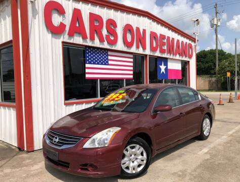 2011 Nissan Altima for sale at Cars On Demand 3 in Pasadena TX