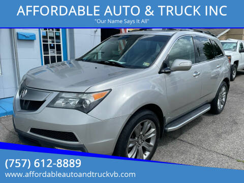 2013 Acura MDX for sale at AFFORDABLE AUTO & TRUCK INC in Virginia Beach VA