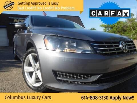 2013 Volkswagen Passat for sale at Columbus Luxury Cars in Columbus OH