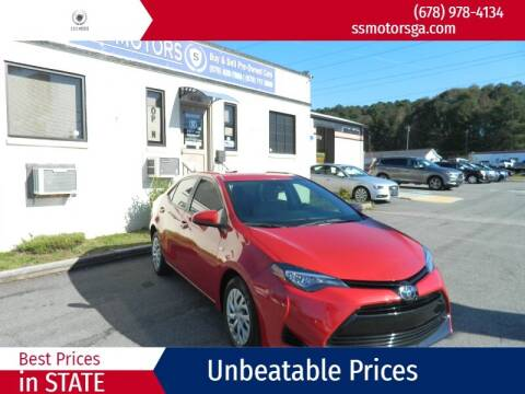 2017 Toyota Corolla for sale at S & S Motors in Marietta GA
