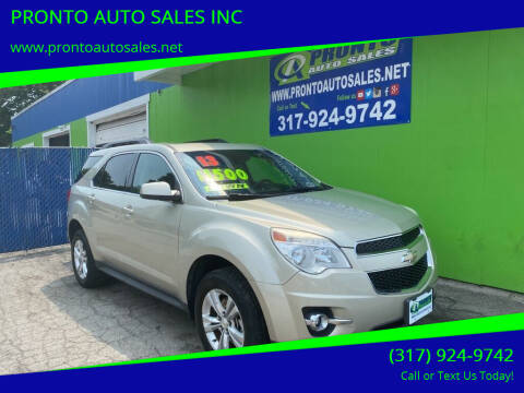 2013 Chevrolet Equinox for sale at PRONTO AUTO SALES INC in Indianapolis IN