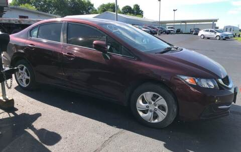 2014 Honda Civic for sale at B & W Auto in Campbellsville KY