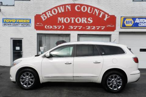 2014 Buick Enclave for sale at Brown County Motors in Russellville OH