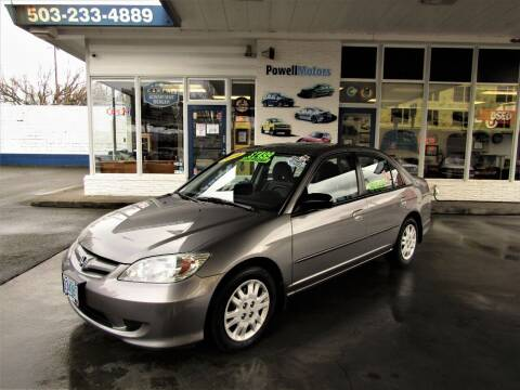 2004 Honda Civic for sale at Powell Motors Inc in Portland OR
