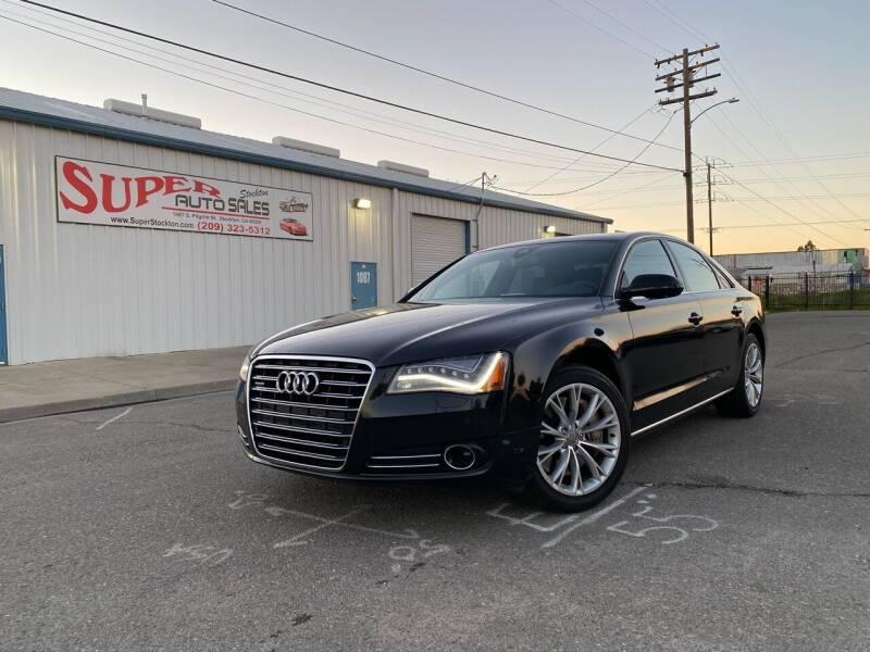 2012 Audi A8 for sale at SUPER AUTO SALES STOCKTON in Stockton CA