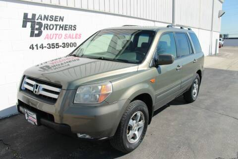 2007 Honda Pilot for sale at HANSEN BROTHERS AUTO SALES in Milwaukee WI