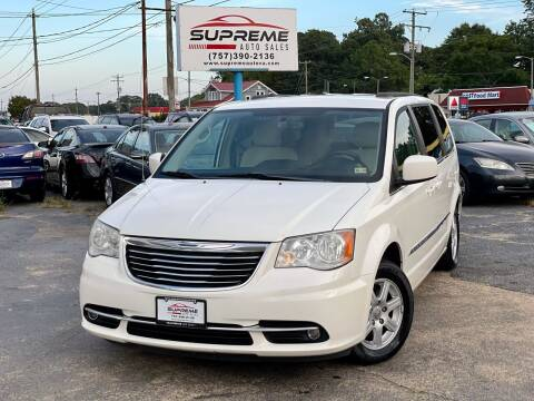 2011 Chrysler Town and Country for sale at Supreme Auto Sales in Chesapeake VA
