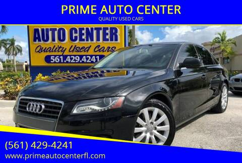 2012 Audi A4 for sale at PRIME AUTO CENTER in Palm Springs FL