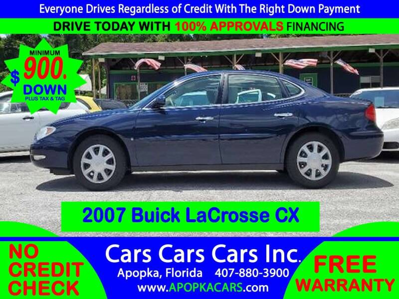 2007 Buick LaCrosse for sale at CARS CARS CARS INC in Apopka FL