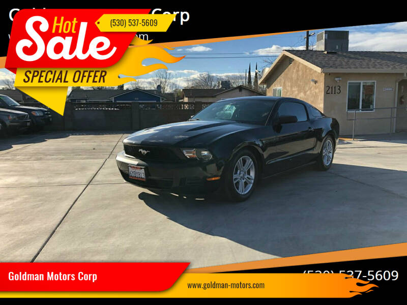 2010 Ford Mustang for sale at Goldman Motors Corp in Stockton CA