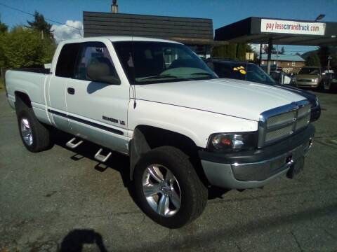 2001 Dodge Ram Pickup 1500 for sale at Payless Car & Truck Sales in Mount Vernon WA