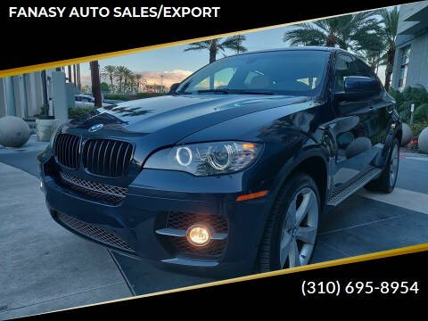 2010 BMW X6 for sale at FANASY AUTO SALES/EXPORT in Yorba Linda CA