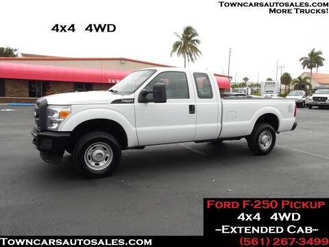 2013 Ford F-250 Super Duty for sale at Town Cars Auto Sales in West Palm Beach FL