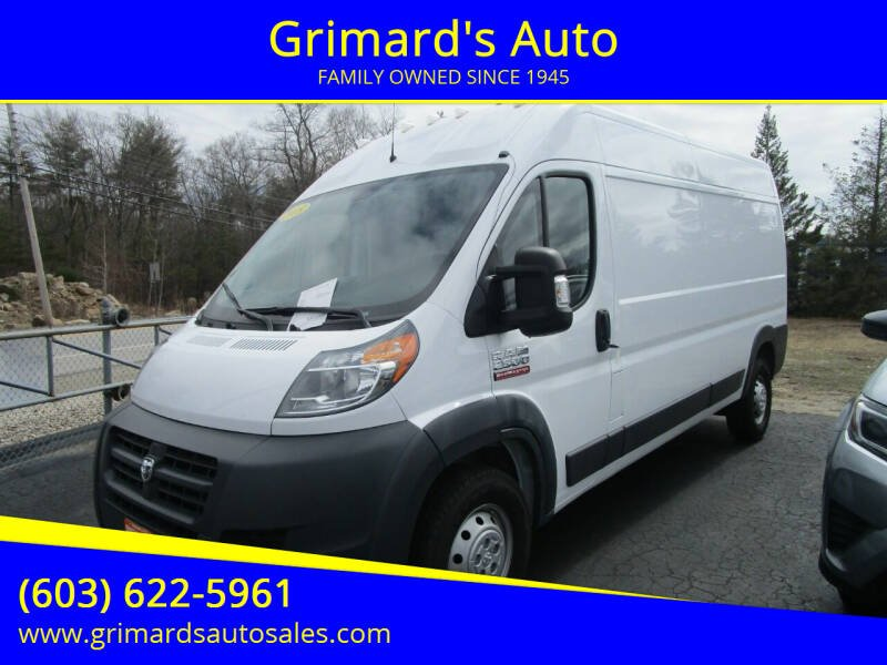 2018 RAM ProMaster Cargo for sale at Grimard's Auto in Hooksett, NH