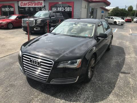 2012 Audi A8 L for sale at CARSTRADA in Hollywood FL