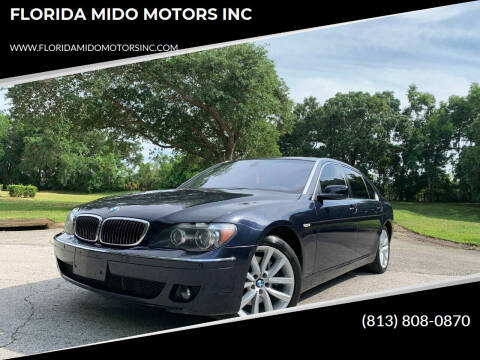 2008 BMW 7 Series for sale at FLORIDA MIDO MOTORS INC in Tampa FL