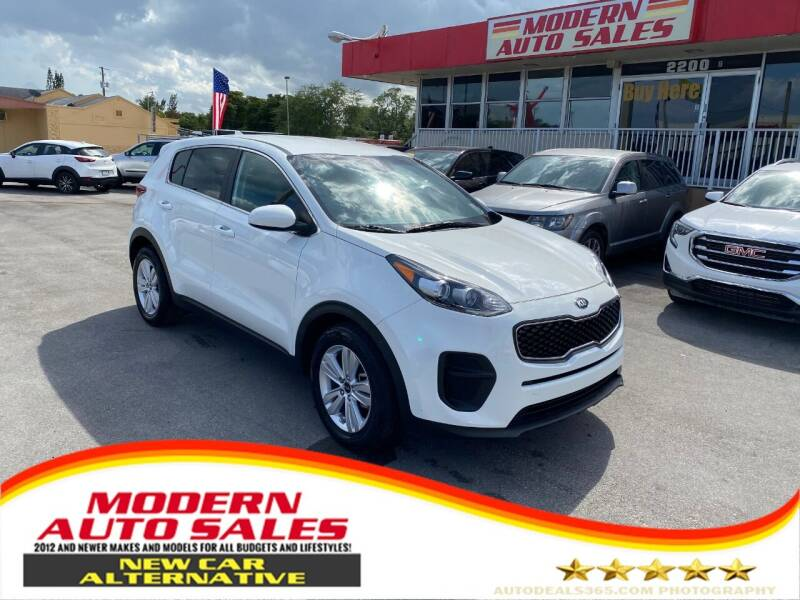 2019 Kia Sportage for sale at Modern Auto Sales in Hollywood FL