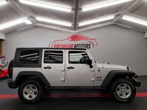 2009 Jeep Wrangler Unlimited for sale at Premium Motors in Villa Park IL