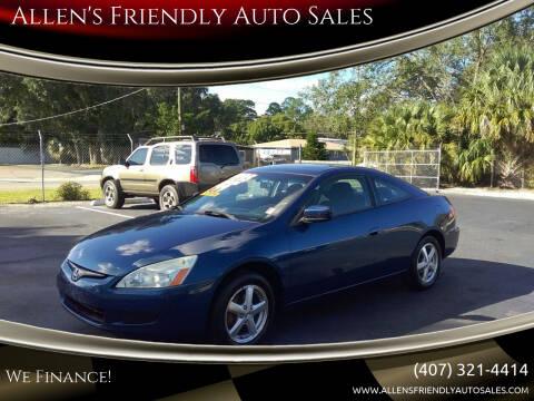 2004 Honda Accord for sale at Allen's Friendly Auto Sales in Sanford FL