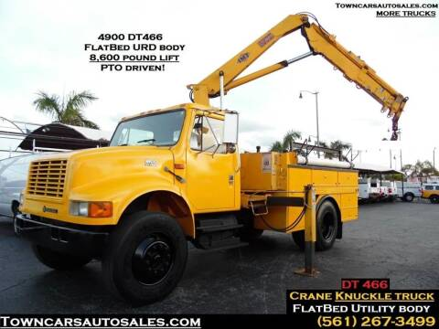 2001 International 4900 KNUCKLE BOOM CRANE TRUCK for sale at Town Cars Auto Sales in West Palm Beach FL