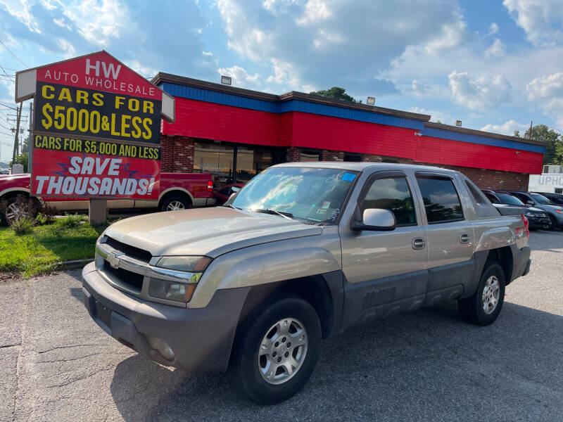 2003 Chevrolet Avalanche for sale at HW Auto Wholesale in Norfolk VA