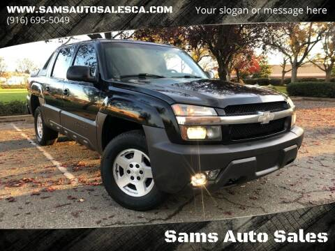2003 Chevrolet Avalanche for sale at Sams Auto Sales in North Highlands CA