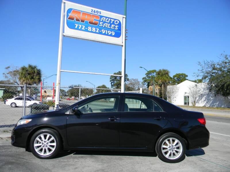 2009 Toyota Corolla for sale at APC Auto Sales in Fort Pierce FL