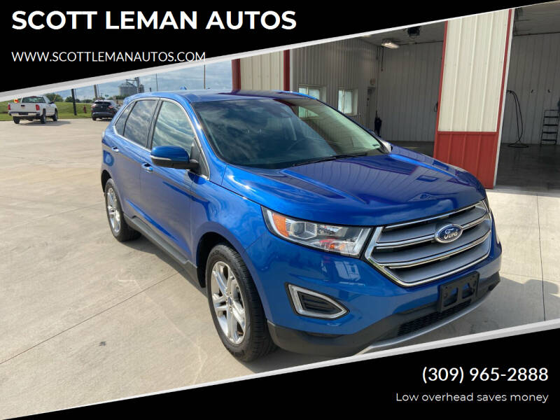 2018 Ford Edge for sale at SCOTT LEMAN AUTOS in Goodfield IL