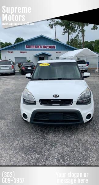 2013 Kia Soul for sale at Supreme Motors in Tavares FL